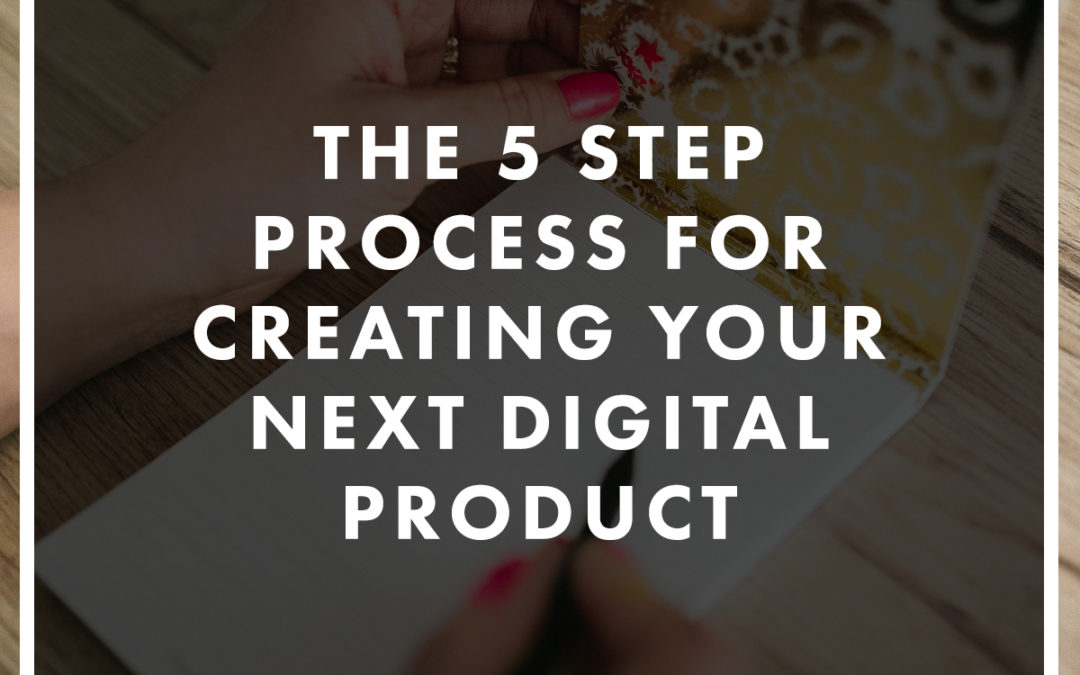 The 5 Step Plan For Creating An Online Product or Service