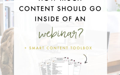 How Much Content Should Go Inside Of A Webinar?