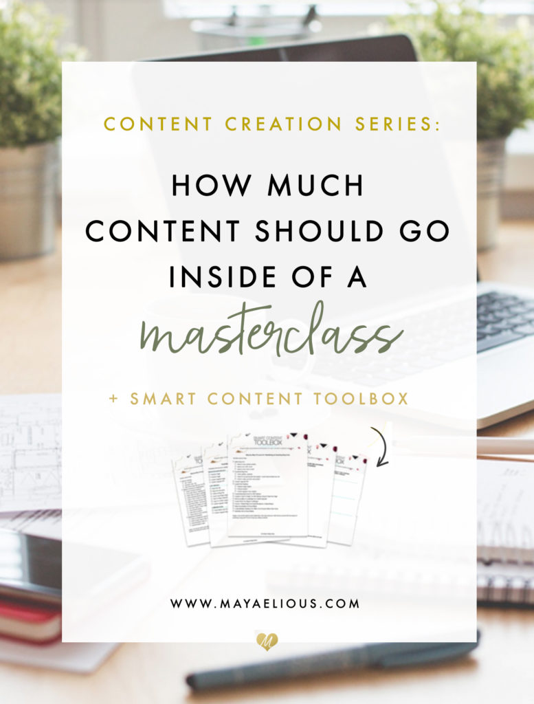 How Much Content Should Go Inside Of A Masterclass?