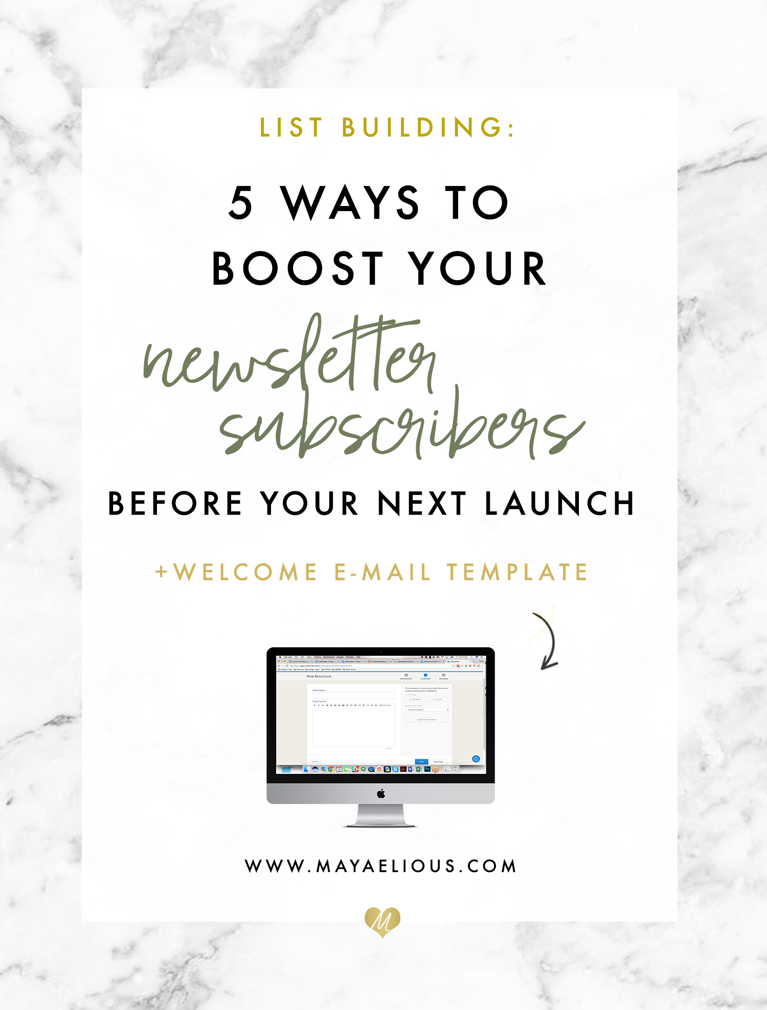 5 Ways To Boost Your Newsletter Subscribers For Your Next Launch + Welcome Email Template