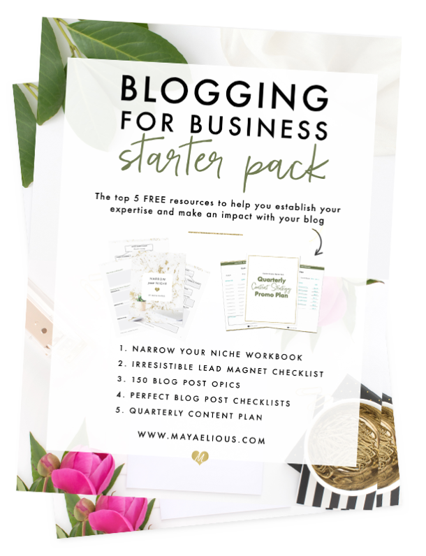 Blogging for Business Starter Pack - The top 5 FREE resources to help you establish your expertise and make an impact with your blog